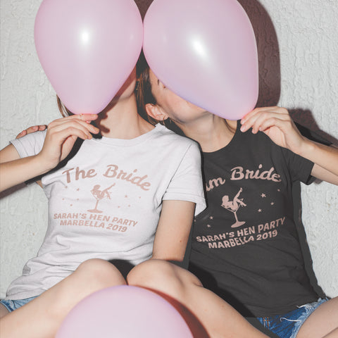 Team Bride Hen Party T Shirts - Purple Print House