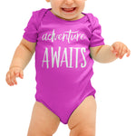 Adventure Awaits Cute Baby grow - Purple Print House