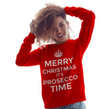Merry Christmas its Prosecco time Sweatshirt - Purple Print House