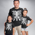 Skeleton Halloween T Shirt - Purple Print House