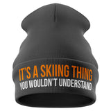 Its a Skiing Thing Funny Beanie Hat - Purple Print House
