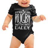 Born to go Rugby Funny Baby grow - Purple Print House