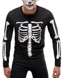 Halloween Skeleton Costume T Shirt - Purple Print House