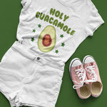 Holy Guacamole Funny Avocado T Shirt - Purple Print House