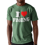 I Love Fishing Funny T Shirt - Purple Print House