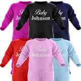 Babies Surname Personalised Romper Suit - Purple Print House