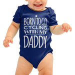 Born to go Cycling Funny Baby grow - Purple Print House