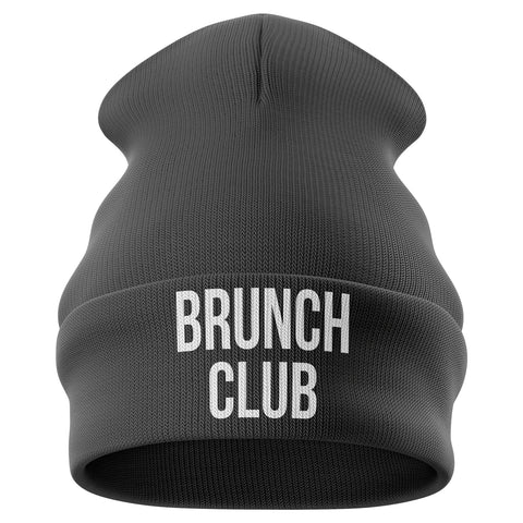 Brunch Club Beanie Hat - Purple Print House