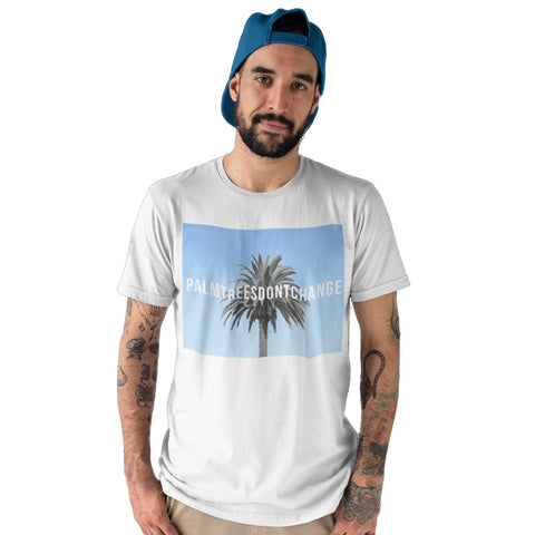Palm trees dont change Summer T Shirt - Purple Print House