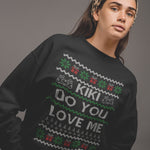 Kiki Do You Love Me Christmas Sweatshirt - Purple Print House