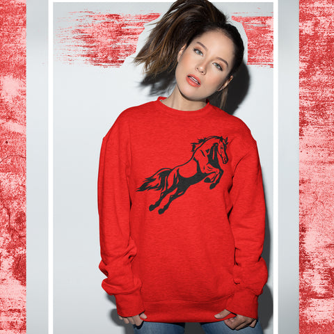 Image of Horse Riding Sweatshirt - Purple Print House
