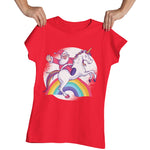 Christmas Santa Unicorn Tshirt - Purple Print House