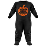 Mamas Little Pumpkin Halloween Baby Romper Suit - Purple Print House