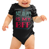 My Aunt is my best friend cute Baby grow - Purple Print House