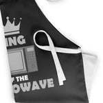 King of the Microwave Funny Apron - Purple Print House
