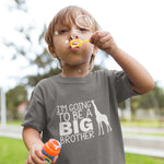 Boys Im going to be a Big Brother T Shirt - Purple Print House