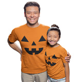 Orange Pumpkin Halloween T Shirt - Purple Print House