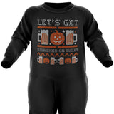 Lets Get Smashed Halloween Baby Romper Suit - Purple Print House