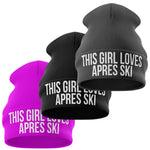 This Girl Loves Apres Ski Funny Beanie Hat - Purple Print House
