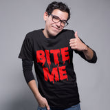 Bite Me Halloween T Shirt - Purple Print House