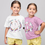 Unicorn doing Yoga Tshirt - Purple Print House