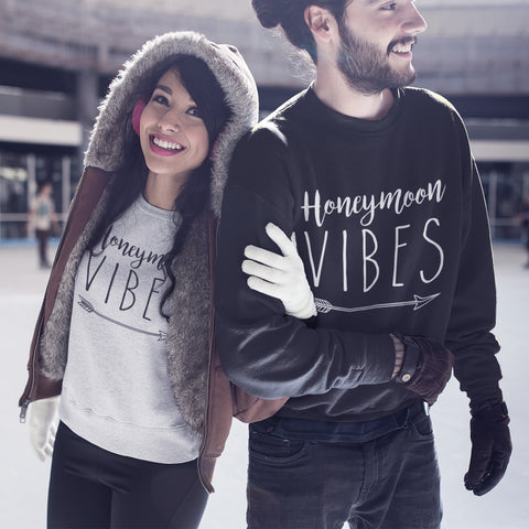 Image of Honeymoon Vibes Sweatshirt - Purple Print House
