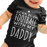 Born to go Football Funny Baby grow - Purple Print House