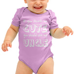 Think im cute see my Uncle Funny Baby grow - Purple Print House