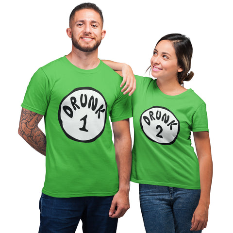 Matching Drunk Funny St Patricks Day T Shirt - Purple Print House