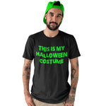 This is my Halloween Costume T Shirt with neon green print - Purple Print House