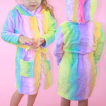 Unicorn Dressing Gown for Children - Purple Print House