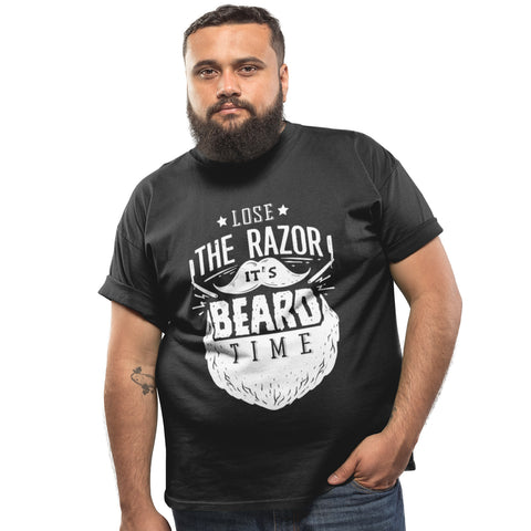 Lose the Razor Its Beard Time T Shirt - Purple Print House