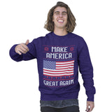 Make America Great Again Christmas Sweatshirt - Purple Print House