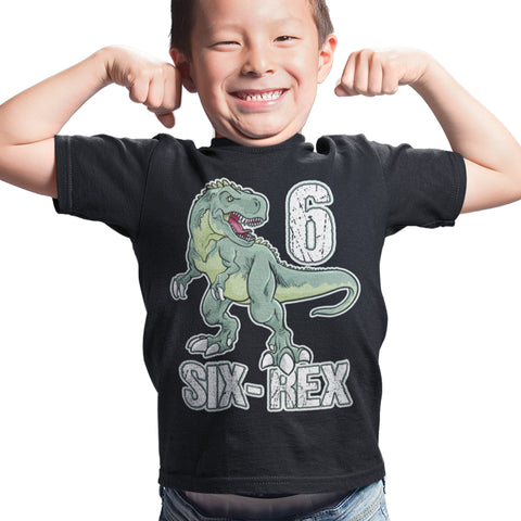 Dinosaur T-Rex Boys Birthday T Shirt - Purple Print House