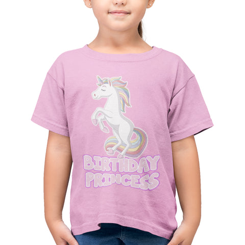 Unicorn Princess Girls Birthday T Shirt - Purple Print House
