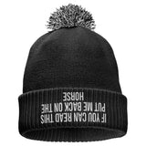 Can Read This Horse Riding Beanie Hat