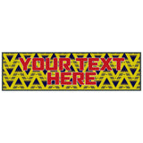 Personalised Bruised Banana Retro Football Kit Bar Mat Runner