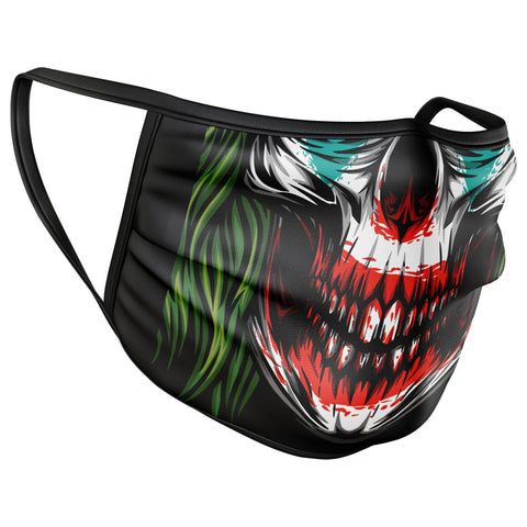 Joker Skull Face Mask Covering