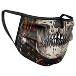 Indian Warrior Skull Face Mask Covering