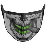 Smoking Skull Face Mask Covering