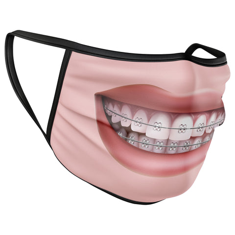 Mouth Braces Funny Face Mask Covering