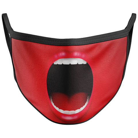 Screaming Mouth Funny Face Mask Covering