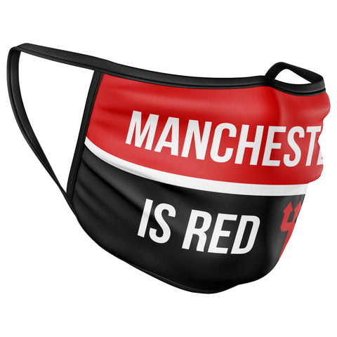 Manchester is Red Face Mask Covering