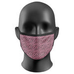 Leopard Print Pink Face Mask Covering