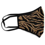 Tiger Print Face Mask Covering