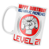 Gaming 21st Birthday Mug