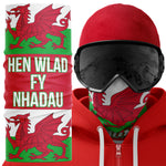 Hen Wlad Fy Nhadau Wales Biker Ski Face Mask Snood - Purple Print House