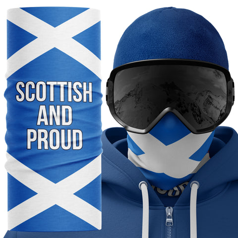 Scottish and Proud Scotland Face Mask Snood - Purple Print House