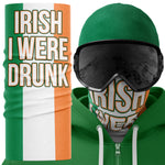 Irish I Were Drunk Ireland Face Mask Snood - Purple Print House