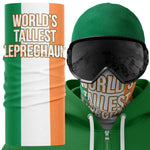 Worlds Tallest Leprechaun Ireland Face Mask Snood - Purple Print House